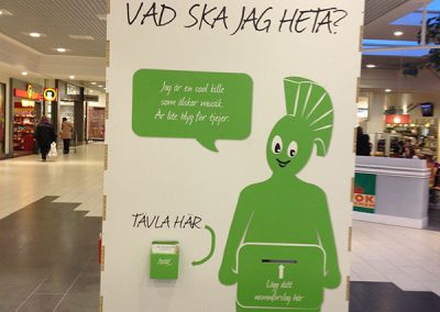 Tävling maskotar Grön